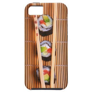 Sushi and wooden chopsticks tough iPhone 5 case