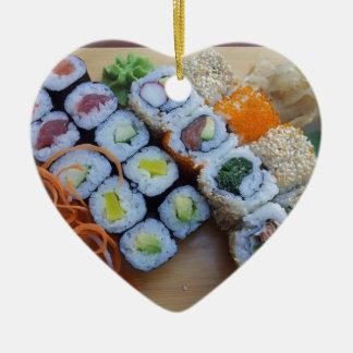 Sushi Asia Rice Fish Food Sea Christmas Ornament