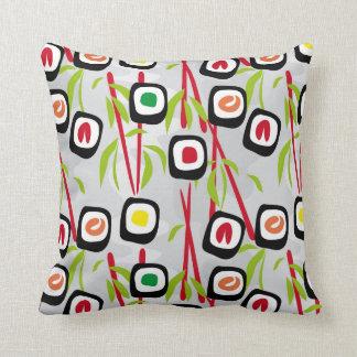 Sushi background cushion