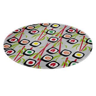 Sushi background cutting board