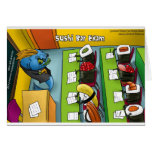 Sushi Bar Exam Funny Tees Mugs Gifts Etc. Greeting Card