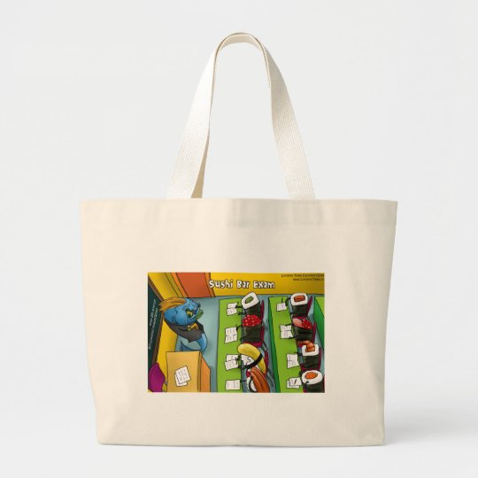 Sushi Bar Exam Funny Tees Mugs Gifts Etc. Large Tote Bag