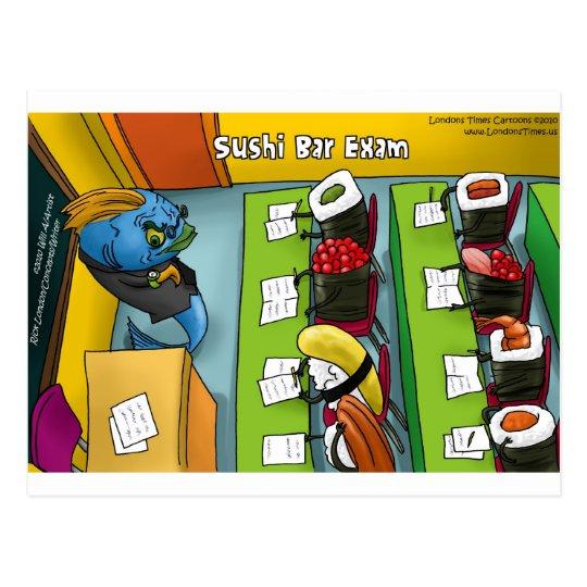 Sushi Bar Exam Funny Tees Mugs Gifts Etc. Postcard