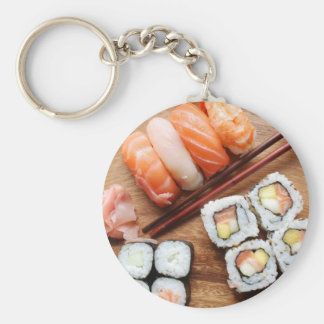 Sushi Basic Round Button Key Ring