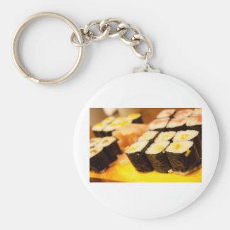 Sushi. Basic Round Button Key Ring