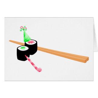 Sushi Birthday Greeting Card