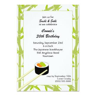 Sushi Birthday Invitation