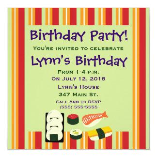 Sushi Birthday Party Invitations