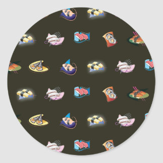 sushi black sticker