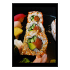 Sushi California roll sashimi foodie chef photo Poster