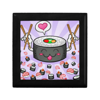 Sushi Cartoon Character Eating Lots of Shrimp Gift Box