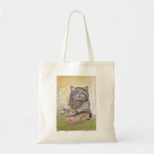 Sushi Cat Tempura Udon Canvas Bag