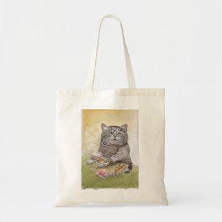 Sushi Cat Tempura Udon Budget Tote Bag