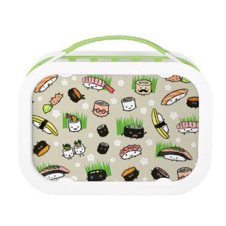 Sushi Characters Pattern Lunch Boxes