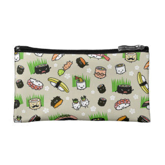 Sushi Characters Pattern Makeup Bags
