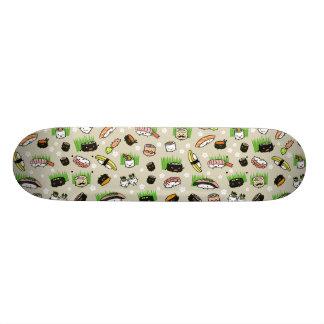 Sushi Characters Pattern Custom Skate Board