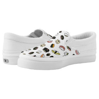 Sushi Characters Pattern Slip On Shoes