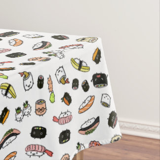 Sushi Characters Pattern Tablecloth