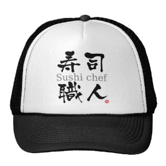 Sushi Chef-KANJI Cap