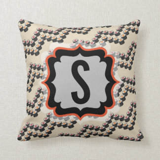 Sushi Chevron with Custom Text Cushion
