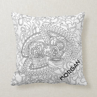 Sushi CL06 Adult Coloring Add A Name Reversible Cushion
