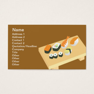 Sushi - Classic Business Card