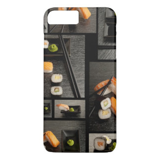 Sushi collection on black background iPhone 8 plus/7 plus case