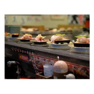 Sushi Conveyor Belt in Tokyo, Japan Postcard