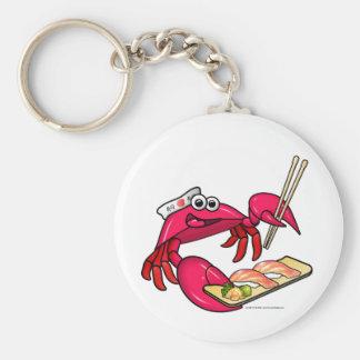 Sushi Crab Basic Round Button Key Ring