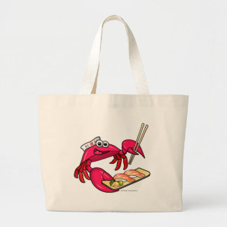 Sushi Crab Large Tote Bag