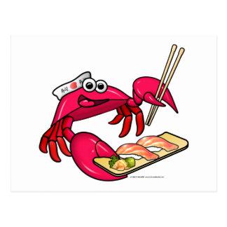 Sushi Crab Postcard