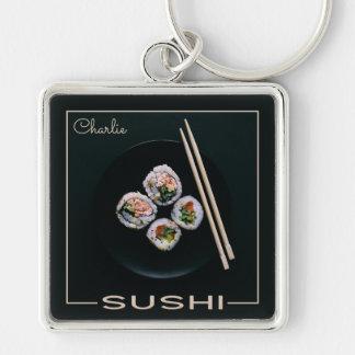 Sushi custom monogram key chain
