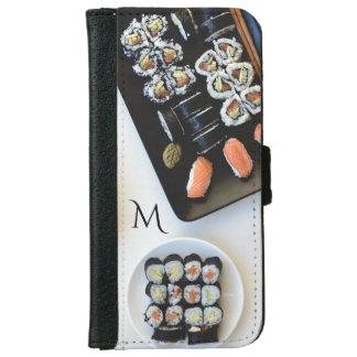 Sushi custom monogram phone wallets