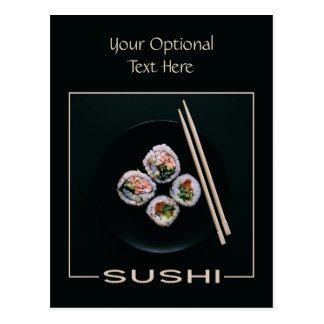 Sushi custom postcard