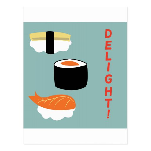 Sushi Delight Post Card