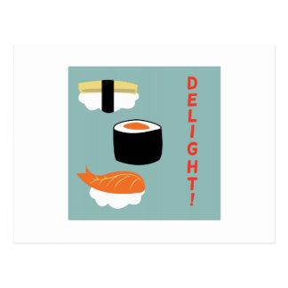 Sushi Delight Postcard