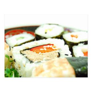 Sushi design postcard