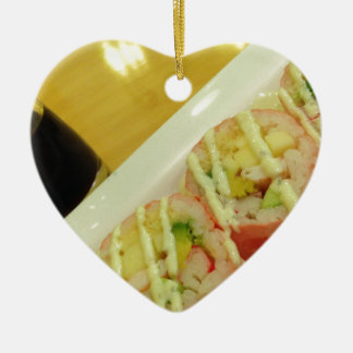 Sushi Dinner Fish Rice Healthy Diet Christmas Ornament