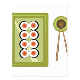 Sushi Dinner Postcard