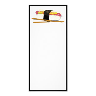 Sushi Dog And Chopsticks Full Color Rack Card