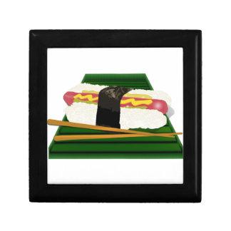 Sushi Dog on a Tray with Chopsticks Keepsake Boxes