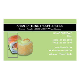 Sushi Eastern fusion restaurant   PERSONALIZE Double-Sided Standard Business Cards (Pack Of 100)