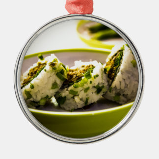 Sushi Eat Japanese Asia Food Rice Tasty Lunch Christmas Ornament
