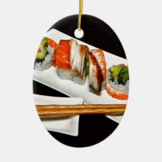 Sushi Food Restaurant Eat Exotic Meals Fast Food Christmas Ornament