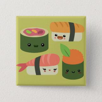 Sushi Friends 15 Cm Square Badge