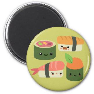 Sushi Friends 6 Cm Round Magnet