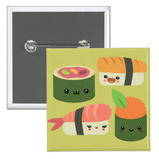 Sushi Friends Buttons