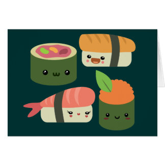 Sushi Friends Card