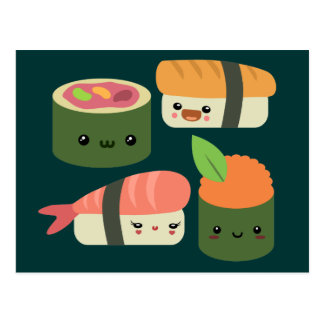 Sushi Friends Postcard
