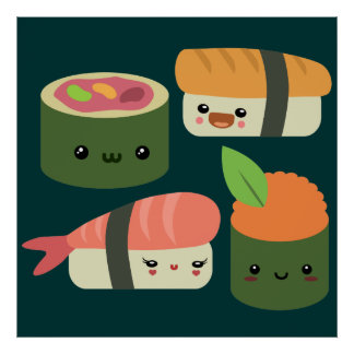 Sushi Friends Poster